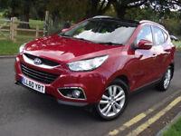 2011 HYUNDAI IX35 2.0 CRDI 4WD PREMIUM RED MANUAL 73500 MILES