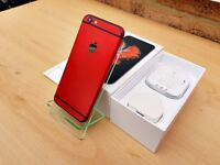 CUSTOM Apple iPhone 6S 16GB RED & BLACK (Unlocked) GREATE CONDITION MUST SEE!