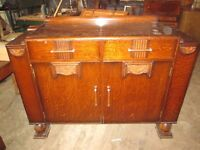 Lovely drawer cabinet with wooden handles,