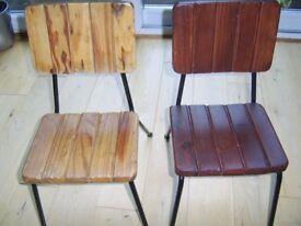 Wooden children's chairs