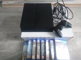 PS4 1TB WITH 10 GAMES,1 CONTROLLER