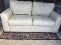For sale cream leather sofas