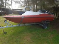 MARINA SPEEDBOAT , SNIPE TRAILER AND MERCURY 60HP OUTBOARD