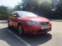2013 (13) SEAT LEON 1.2 S (S/S) 105BHP TSI RED HATCHBACK 5DR £30 YEAR ROAD TAX