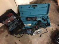 Assortment of electric tools