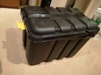 145Litre Black storage box B&Q with clip handle locks