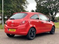 VAUXHALL CORSA 1.2 PETROL LOW MILEAGE 48,000 ONLY LONG M.O.T 3DR HATCHBACK RED 2010