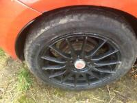 Fiat 16 inch wheels alloys with 4 new tyres