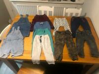 Boys bundle trousers and dungarees size 12-24months