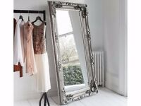 NEW Carved Louis Silver 6 ft Leaner Mirror Reduced to £149 SALE ENDS THIS SUNDAY