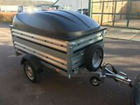 Car box trailer Camping trailer brenderup 1205s + ABS lid box trailer