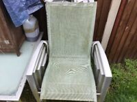 6 high back strong patio chairs bargain £25 each just need wash down bargain