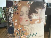 Canvas print Klimt 90x90 cm