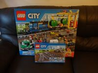 LEGO 60052 and LEGO 7895: City Cargo Train & Tracks BNIB BRAND NEW