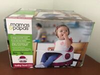 Mamas & Papas Baby Bud Booster Seat, Raspberry 6m-3 years. W/box&instructions. Excellent condition