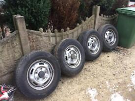 '51 Ford Transit wheels and tires x 5