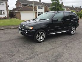 02 BMW X5 diesel 3.0 black long mot service history low tax top spec£2995