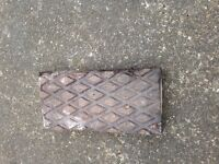 Old clay blue paving tiles in good condition