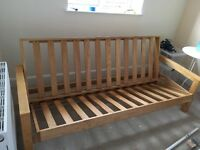 Wooden sofa bed / double bed frame for sale