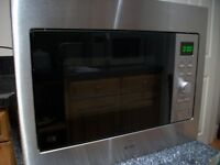 microwave built-in only 7 months old cost over £200 new