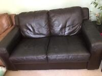 Black/dark brown sofa for sale