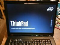 "IBM Lenovo T500, 2G mem, 160GB HDD, Intel Core 2 Duo processor, 15"" Laptop Notebook"