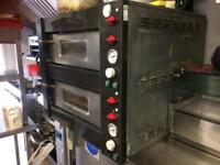 Double pizza oven 3 phase used