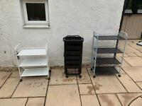 3 Hairdressing/ Health and Beauty trollies - £20