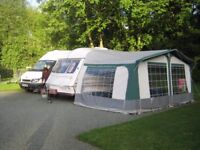 Caravan awning with annex