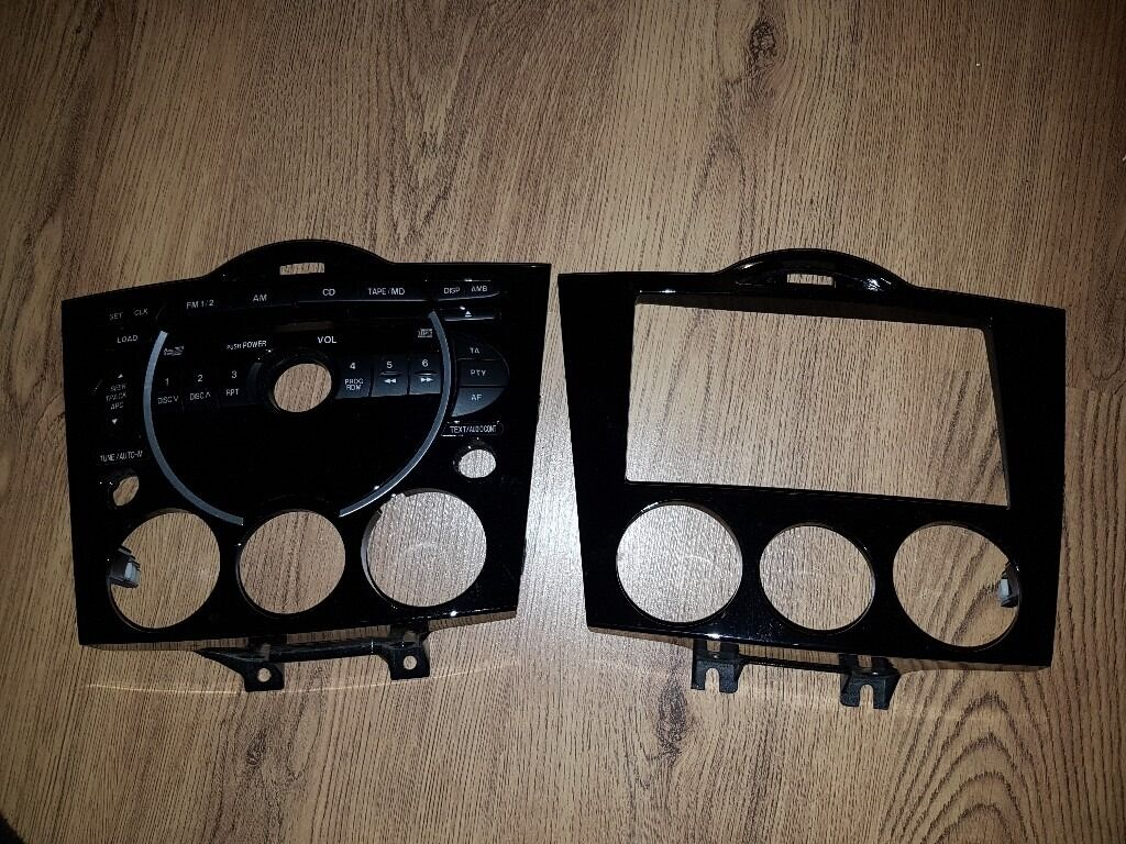 Mazda RX8 Double Din Aftermarket Radio Stereo fasciaOriginal Fasciain Heathrow, LondonGumtree - Mazda RX8 Double Din Aftermarket Radio only no wiring Original Stereo fascia Mazda RX8 fascias Both in Excellent Condition, if you have any questions, dont hesitate to ask. many thanks