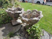 Free concrete planters