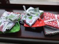 Christmas fabric fat quarters. patchwork?