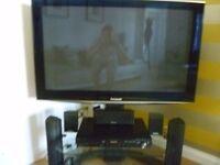 Panasonic Plasma TV + DVD Surround Sound System + Stand