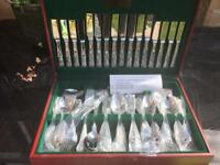 Housley stainless Steel cutlery set in box