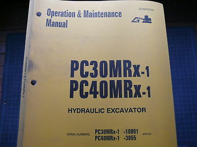 Komatsu Pc30 Pc40 Mrx Trackhoe Crawler Excavator Operation Operator Manual Guide