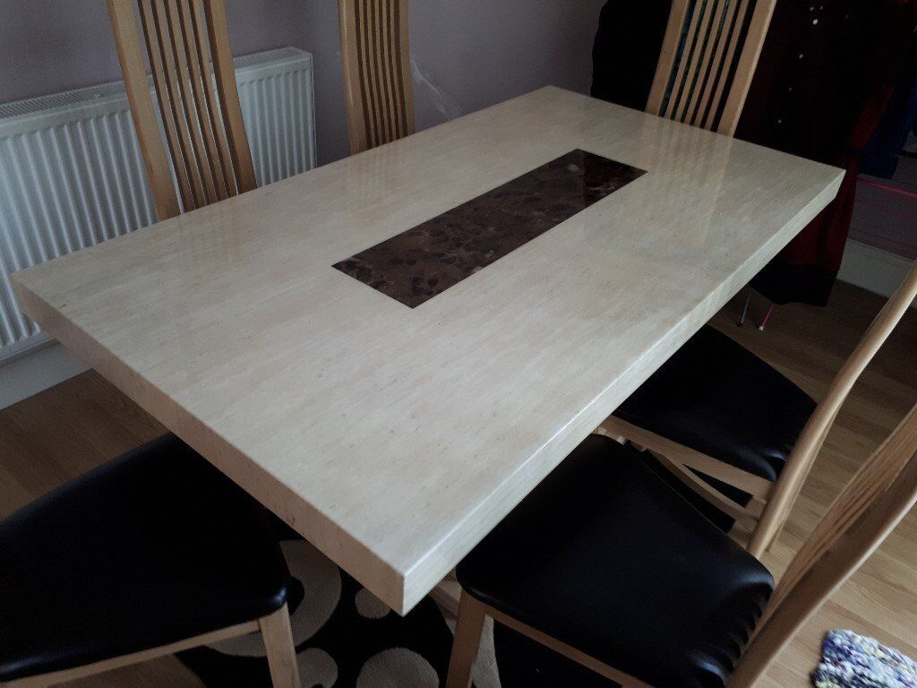 Marble Dining Table Chairs For Sale