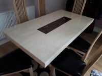 Marble Dining Table (& Chairs) For Sale