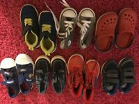 BOYS SHOES INCLUDING CONVERSE, SPIDERMAN 2-3 YEARS OLD BUNDLE