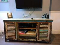 Handmade Upcycled 1 drawer 2 door TV unit / sideboard