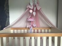Cot, cot canopy and cot mobile