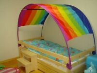 Rainbow Single Bed Canopy