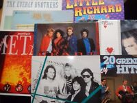 collection of 50 assorted vinyl LP`s from WHAM to MANTOVANY 60s to 90s music to many to mention
