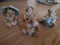 Set of 4 cherished teddies.