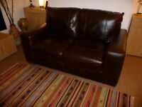 SMART ALL LEATHER PAIR OF TW0 SEATER SOFAS - TONS OF LIFE TO GO