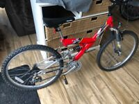 Kids full suspension mountain bike 24 inch wheels