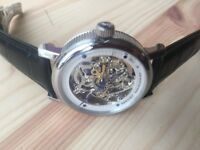 New skeleton dial leatjer strap Breguet watch