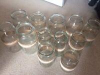 Wedding centre peice jam jars