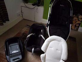 SILVERCROSS SURF PUSHCHAIR + ISOFIX + CAR SEAT