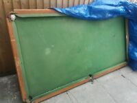 Slate based snooker table.