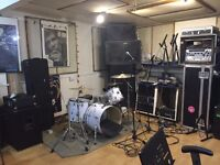 Band Rehearsal Room and Recording Studio Available Monday, Tuesday, Wednesday and Saturday evenings